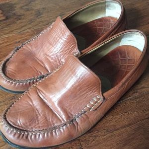Men's Johnston and Murphy leather loafers, size 11